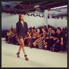 On adore le #short ajouré vu au #defile #AnthonyVaccarello #fashionweek #pfw