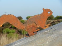 Rusty Squirrel / Red Squirrel / Rusty Metal Garden Art / Squirrel Garden Gift / Squirrel Silhouette / Metal Garden Decor / Garden Art