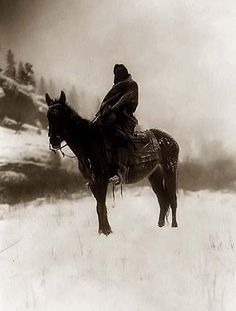 Crow Indian Scout in Winter