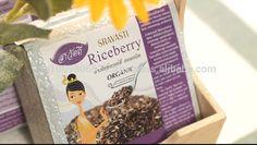 Riceberry Rice Rice Packaging, Package Design, Grains, Organic, Logo, Healthy, Logos, Packaging Design, Design Packaging