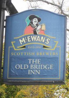 Wandering Photos - Pub Sign for The Old Bridge Inn - Bridge of Allan Stirling Scotland