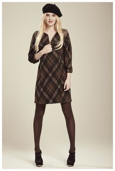Francis Fall 2012 - Erin plaid jersey dress with zipper detail