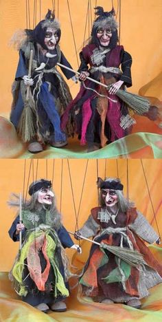 Witch Marionette / Czech Marionettes By Rici