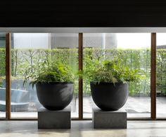 Large Indoor Planters, Large Ceramic Planters, Indoor Plants, Large Vases, Interior Garden, Interior Plants, Raised Planter, Planter Pots, Outdoor Landscaping