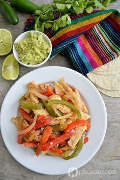 Fajitas de pollo www.pizcadesabor.com