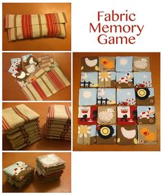 DIY Fabric memory game