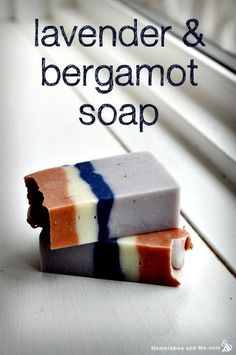 How to Make Lavender & Bergamot Soap - This is a beautiful, cold-process soap. I love the colors!