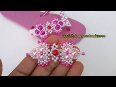 Beading Patterns Free, Beading Tutorials, Jewelry Patterns, Beaded Jewelry, Unique Jewelry, Crochet Bedspread Pattern, Diy Perler Beads, Beaded Embroidery, Diy And Crafts