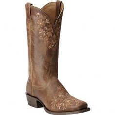 10015332 Ariat Women's Ardent Western Boots - Terra Brown www.bootbay.com