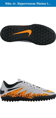 Nike Jr. Hypervenom Phelon II Turf Soccer Cleats (Wolf Grey, Total Orange) 11C. Nike Junior HyperVenom Phelon II (TF) Kids' Turf Football Boot (10c-6y) ENHANCED AGILITY AND TOUCH. The Nike HyperVenom Phelon II (TF) Kids' Turf Football Boot (10c-6y) is built for unrivaled agility on synthetic surfaces with an anatomical fit that locks down your foot. A textured, leather-like upper enhances ball touch for maximum control. The anatomical design creates a glove-like fit that enables agility....