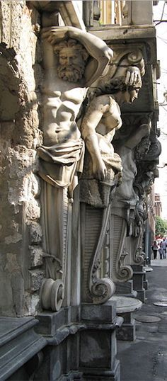 Atlantes and Caryatids.