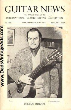 1969 Sept./Oct. Guitar News Magazine Back-Issue - Julian Bream Recital Aldeburgh Festival