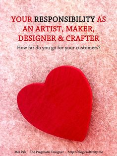 How responsible should we be as artists, makers and designers? Project Ideas, Craft Projects, Craft Ideas, Etsy Business, Business Tips, Art In The Park, Business Entrepreneur, Handmade Crafts, Fun Stuff
