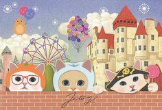 Jetoy Choo choo cat postcard - Party 2 | Flickr - Photo Sharing!