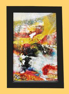 tableau abstrait peinture vitrail encadr et sous verre paysage imaginaire ebay. Black Bedroom Furniture Sets. Home Design Ideas
