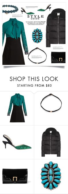 """Choker Necklace"" by bonnielindsay ❤ liked on Polyvore featuring Miu Miu, Shay, Paul Andrew, Wood Wood, Halston Heritage, Natalie B and Sydney Evan"