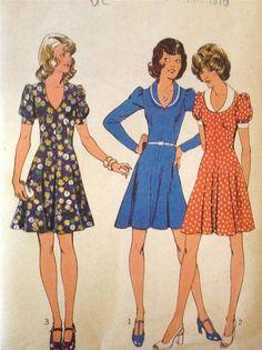 Sewing Pattern 1008 Style Ladies Dress Size 13JP