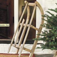 Suzanne Kasler Ballard Designs | Suzanne Kasler Wooden Sled | Holiday Accessories | Ballard Designs ...