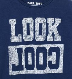 "Image 3 of ""LOOK COOL"" T-SHIRT from Zara"