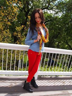 Hairstylist/ Lover of fashion & photography/Tips about current trends & advice about living beautifully Red Pants Outfit, Photography Tips, Fashion Photography, Passion For Fashion, Cute Outfits, My Style, Accessories, Clothes, Beauty