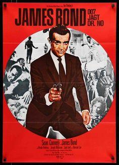 James Bond - Dr No jagt Dr No) - Sean Connery - Ursula Andress - German Fridge Magnet A First James Bond Movie, James Bond Movie Posters, New James Bond, James Bond Movies, Ursula Andress, Roger Moore, Detective, Sean Connery James Bond, Service Secret