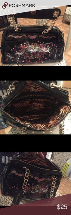 Spotted while shopping on Poshmark  Ed hardy black purse!  poshmark   fashion   008fcd36b6