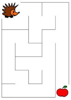 Pro Šíšu: Bludiste Mazes For Kids Printable, Fun Worksheets For Kids, Math For Kids, Kindergarten Worksheets, Preschool Bible Lessons, Preschool Learning Activities, Preschool Activities, Logic Games For Kids, Alphabet Drawing