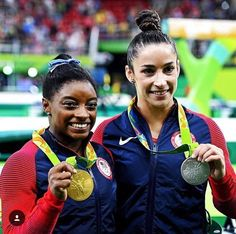 Women's All-Round Gymnastics Olympic 2016 medalists: gold: Simone Biles and silver: Alexandra Raisman