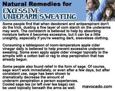 Natural Remedies for Sweating. Pinned by Pink Pad, the women's health app with the built-in community!