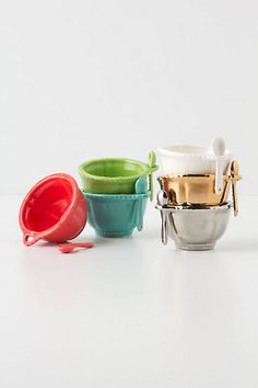 Artisan Mini Salt Cellar, I like the turquoise or white one  #modernthanksgiving