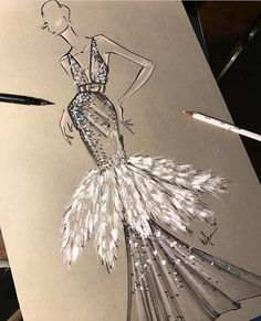Ideas for fashion design drawings sketches haute couture - Fashion design sketches - Fashion Illustration Sketches, Illustration Mode, Fashion Sketchbook, Fashion Sketches, Design Illustrations, Sketchbook Drawings, Doodle Drawings, Paper Fashion, Fashion Art