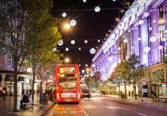 Christmas decorations in Oxford Street, London. #london #travel #christmas