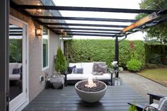 Love It Or List It Vancouver: Kevin & Sabrina's new covered patio, complete with a fire pit!