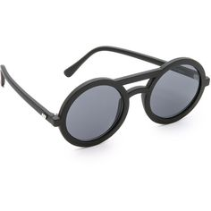 Le Specs Radio Star Sunglasses (535 EGP) ❤ liked on Polyvore featuring accessories, eyewear, sunglasses, le specs, star eyewear, circular sunglasses, circular glasses and circle sunglasses