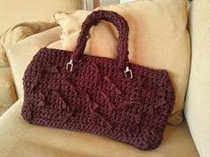 lovely people :) Hecho con amor y con nuestros materiales, por M Eugenia  #hechoamano #crochet #ganchillo #sacocharte #trapillo