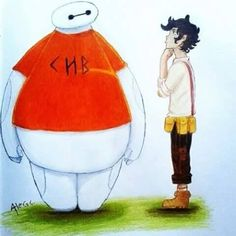 """I am Baymax, your personal healthcare companion. Hello, Leo."" ""'Sup big guy?"" ""I will scan you now."" ""Don't scan me."" ""Scan complete."" ""Unbelievable."" ""You are in need of a hug."" *hugs* *sigh* ""Thanks, Baymax."""