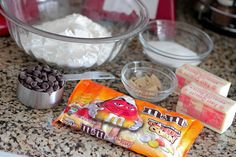 chocolate shortbread bars with white chocolate candy corn m amp m s