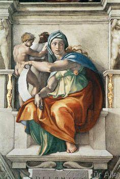 Michelangelo Buonarroti - Die Delphische Sibylle #arte