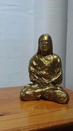 Jesus Christ meditating bronze color statuette,for sale. Made in California .