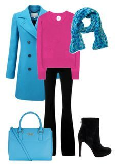 Clear winter has super saturated blues. Rightly so, because they go with a clear winter's bright eyes. I kept the color combo pretty saturated because thats what clear winter looks best in. Adding fuchsia to any outfit for a clear winter is a great idea. Fuchsia looks amazing on a clear wint