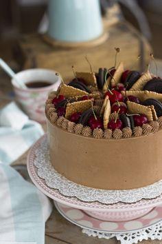 Tarta de Chocolate y Café pastel suave y esponjoso