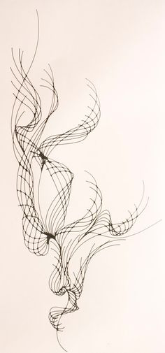 Blssom Set of Abstract Ink Line Drawings by keallendesign on Etsy, $145.00