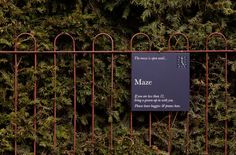 Cliveden, National Trust, Wayfinding, Maze, Arrival Sign, Holmes Wood
