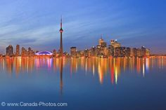Picture of Toronto City Skyline Dusk Reflections