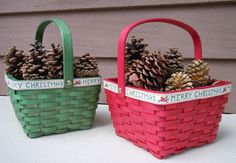 Create Holiday Joy with Dip-Dyed Wicker Baskets! | Rit Dye