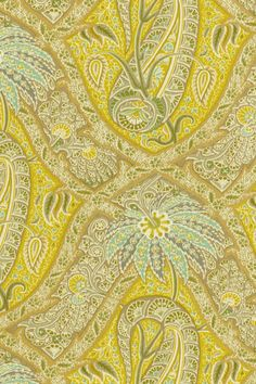 Tommy Bahama Outdoor Fabric- Polynesian Paisley Lemoncello