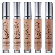 NEW! Urban Decay Spring 2015 Naked Skin Weightless Complete Coverage Concealer $28.00 Hide even your most scandalous flaws. Naked Skin Weightless Complete Coverage Concealer gives you buildable, even coverage with a luminous, demi-matte finish. Ultra lightweight, this high-tech formula melds like a second skin to give you full coverage in an instant. For complete coverage, just keep building; no matter how much you apply, Naked Skin Concealer always blends beautifully and NEVER settles
