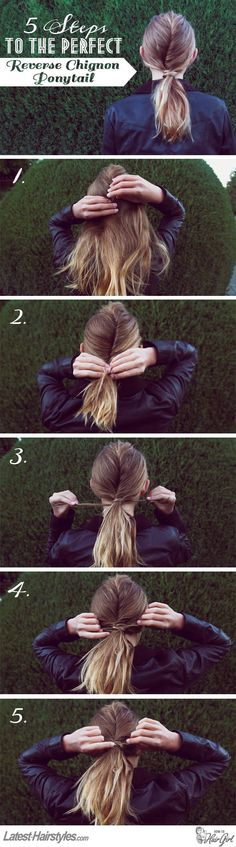 The Reverse Chignon Ponytail Tutorial