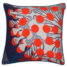 Merivuokko cushion cover, turquoise, by Marimekko.