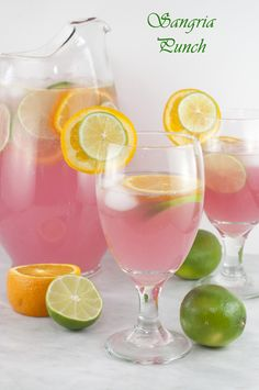 Sangria Punch {Kid-Friendly} recipe is so refreshing and will cool you off on these hot summer days! This drink would be great for holidays or parties!